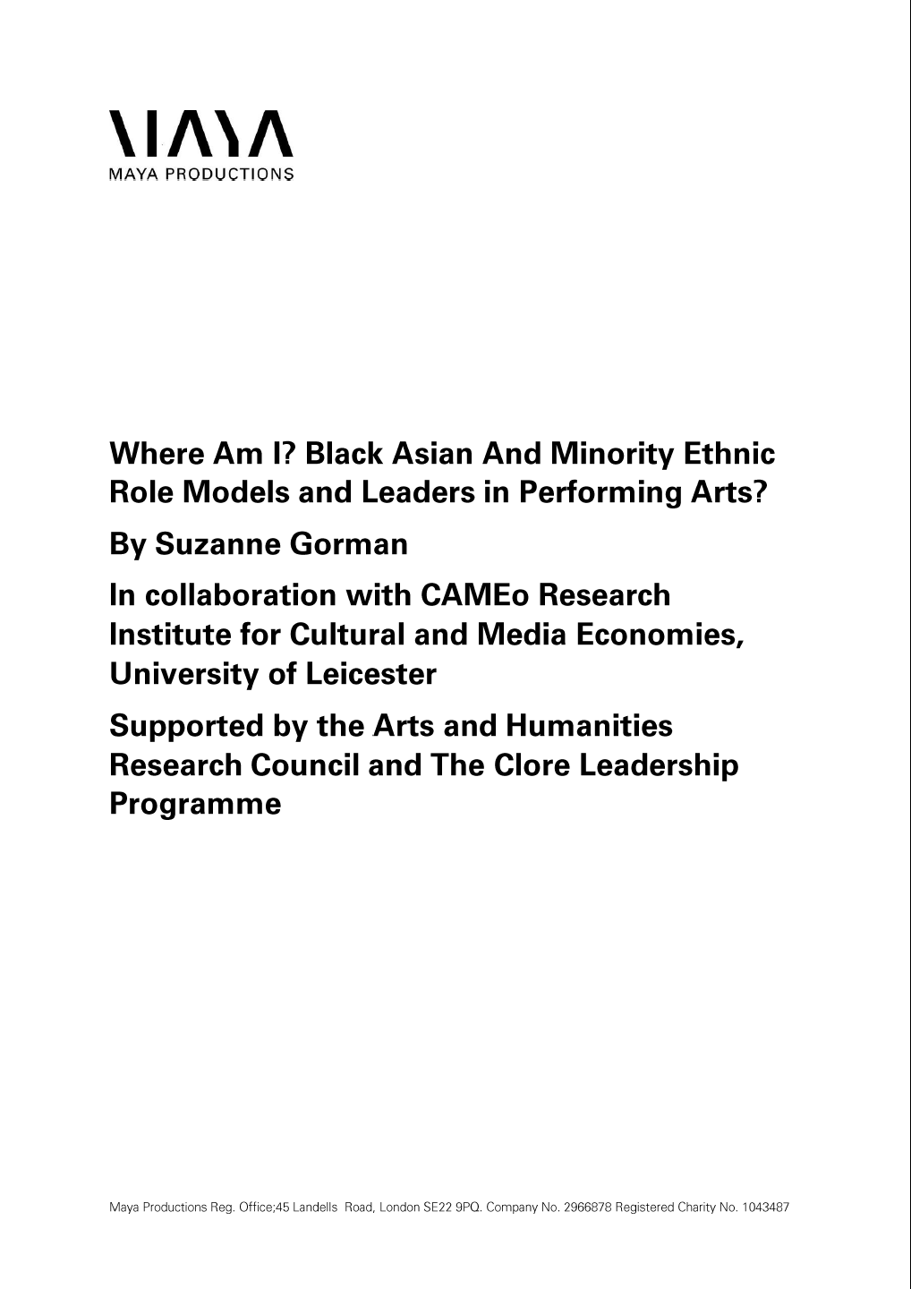 Click here to read the 'Where Am I BAME Role Models' guide